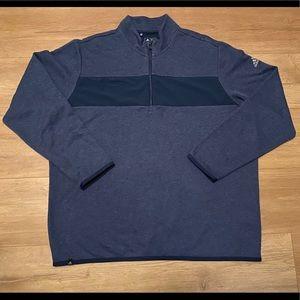 Adidas blue XL 1/4 zip pullover sweater